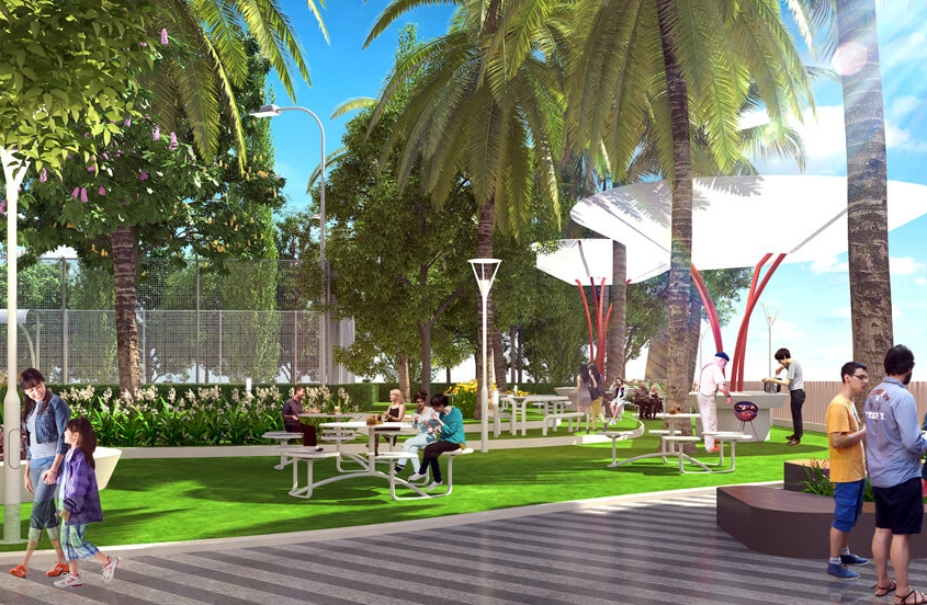 Công viên cây xanh tại Masteri Thanh Đa