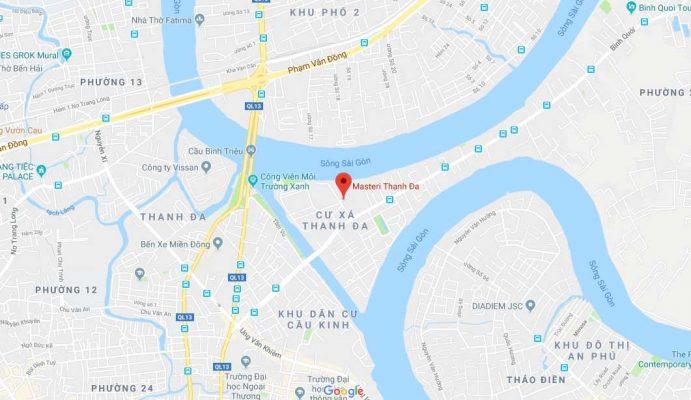 Vị trí căn hộ Masteri Thanh Đa