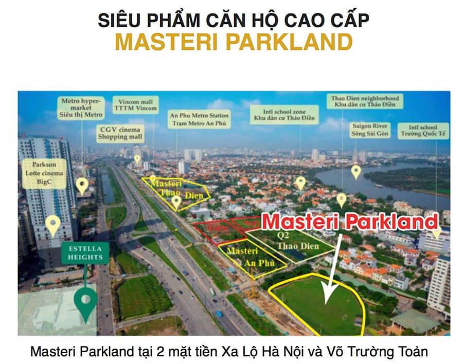 Vị trí dự án căn hộ Masteri Parkland